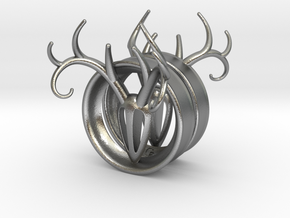 1 & 7/8 inch Antler Tunnels in Natural Silver