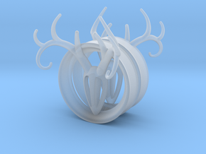 1 & 7/8 inch Antler Tunnels in Smooth Fine Detail Plastic