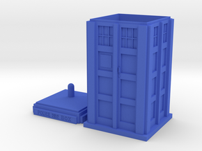 Tardis Stash Box in Blue Processed Versatile Plastic