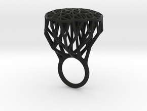 Ring Tree V4 18mm in Black Natural Versatile Plastic