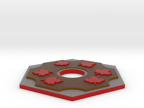Catan Hex Tile Wood Mapleleaf 79mm in Full Color Sandstone
