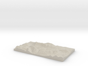 Model of Allt Lairig Eilde in Natural Sandstone