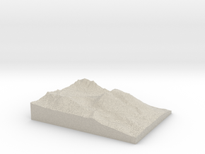 Model of Buffalo Mountain in Natural Sandstone