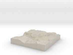 Model of Curry Village in Sandstone