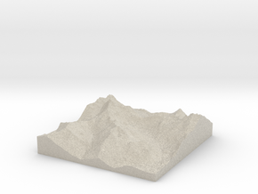 Model of Snoqualmie Pass in Natural Sandstone
