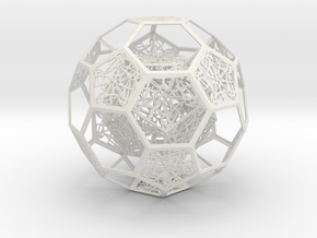 Dodecahedron in Truncated Icosahedron with pentag in White Natural Versatile Plastic