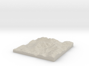 Model of Wasdale Head in Natural Sandstone