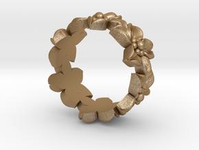 Flower Ring Size 7 in Matte Gold Steel