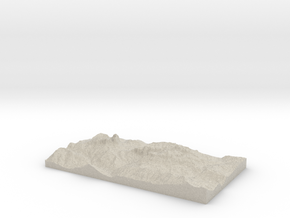 Model of Canazei   Cianacei in Natural Sandstone