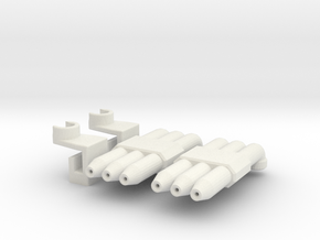 Hot Rod Pipes in White Natural Versatile Plastic