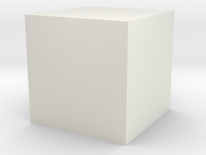 Cube71 Hollow in White Natural Versatile Plastic