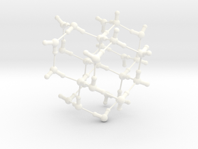Water Molecule Matrix Model UniColor Plastic Large in White Processed Versatile Plastic