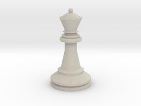 Large Staunton Queen Chesspiece in Natural Sandstone