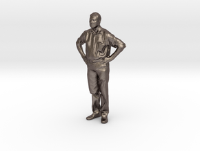 Alan - Pre Maker Faire Meetup May 2014 in Polished Bronzed Silver Steel