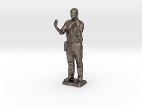 Stephen C - Pre Maker Faire Meetup May 2014 in Polished Bronzed Silver Steel
