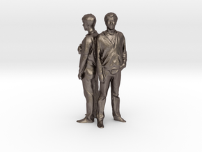 Noah & Chris - Pre Maker Faire Meetup May 2014 in Polished Bronzed Silver Steel