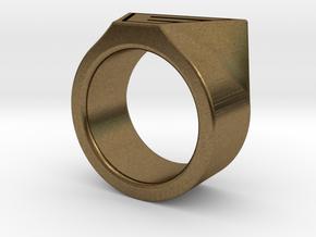Dr Evil Ring Size 11 in Natural Bronze
