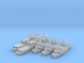 Cod War Set 2 1/1250 & 1800 in Smooth Fine Detail Plastic: 1:1250