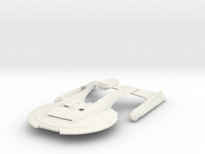 USS Thunderchild in White Natural Versatile Plastic