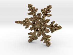 Schneeflocke  mit Öse in Natural Bronze