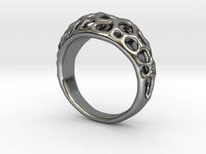 Bubble Ring No.1 in Polished Silver