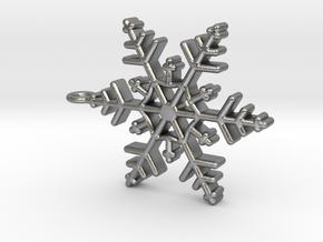 Schneeflocke  mit Öse in Natural Silver