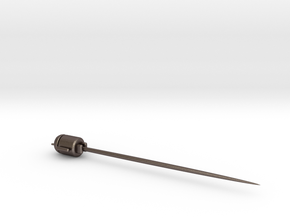 Android martini pick in Polished Bronzed Silver Steel