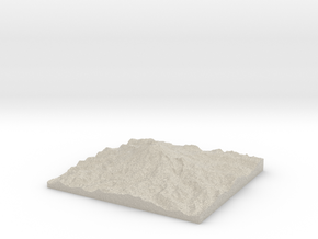 Model of Gibraltar Rock in Natural Sandstone