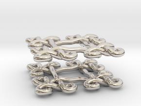 Fractal Celtic knot earrings in Platinum