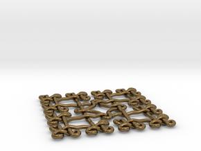 Fractal Celtic knot pendant in Polished Bronze