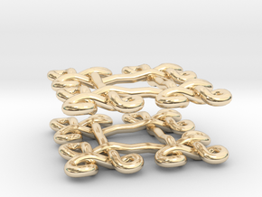 Fractal Celtic knot earrings in 14K Yellow Gold