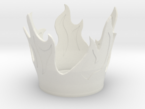 Flame Candle Holder in White Natural Versatile Plastic