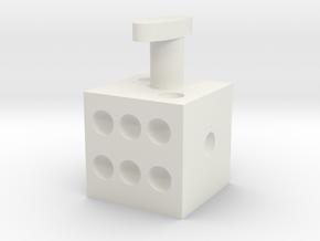 Cuff links dice cufflinks in White Natural Versatile Plastic