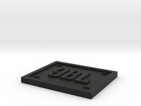 JBL Emblem/Logo for Fender Amplifiers in Black Natural Versatile Plastic