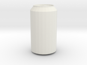 Soda Can in White Natural Versatile Plastic
