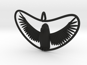 Bird Pendant in Black Strong & Flexible