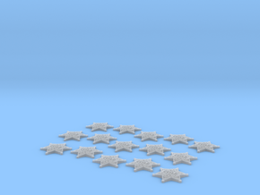 15 X Law enforcement Guild Star 20mm. in Smooth Fine Detail Plastic