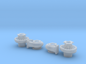 1/25 scale 2 Inch Right And Left Turbo in Smooth Fine Detail Plastic