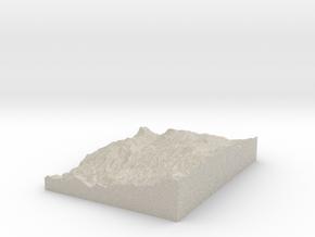 Model of Warnock Mine in Natural Sandstone