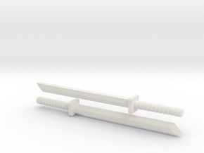 ModiBot Musashi Sword Set in White Strong & Flexible