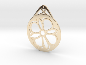 Hanging Ornament ~ Medieval Tile Design  in 14K Yellow Gold
