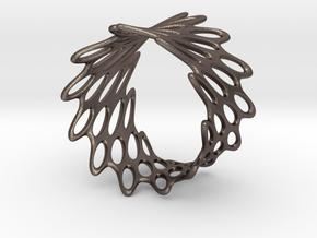 Net Bracelet in Polished Bronzed Silver Steel