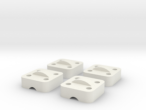Printrbot Z Drive Clamp in White Natural Versatile Plastic