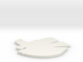 Raider Logo in White Natural Versatile Plastic