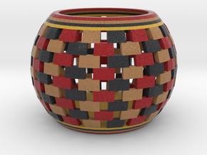DRAW bowls - segmented multicolor in Full Color Sandstone: Small