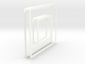 LM Windows Set in White Processed Versatile Plastic