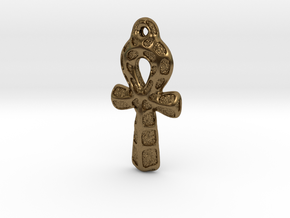 Ankh Pendant - Textured in Natural Bronze