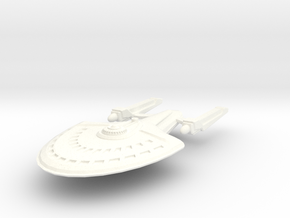 USS Ridley (Glasgow Class) in White Strong & Flexible Polished