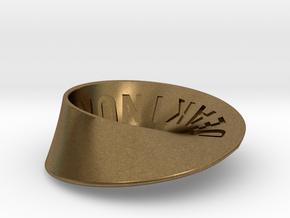 Deakin University Möbius Strip   2mm in Natural Bronze