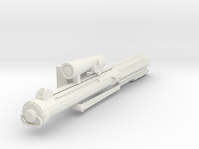 Trooper Blaster in White Natural Versatile Plastic